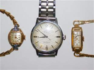 THREE GOLD FILLED WATCHES