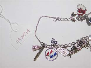 STERLING SILVER CHARMS AND BRACELET PIECES
