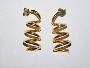PAIR OF 14K GOLD SPIRAL EARRINGS