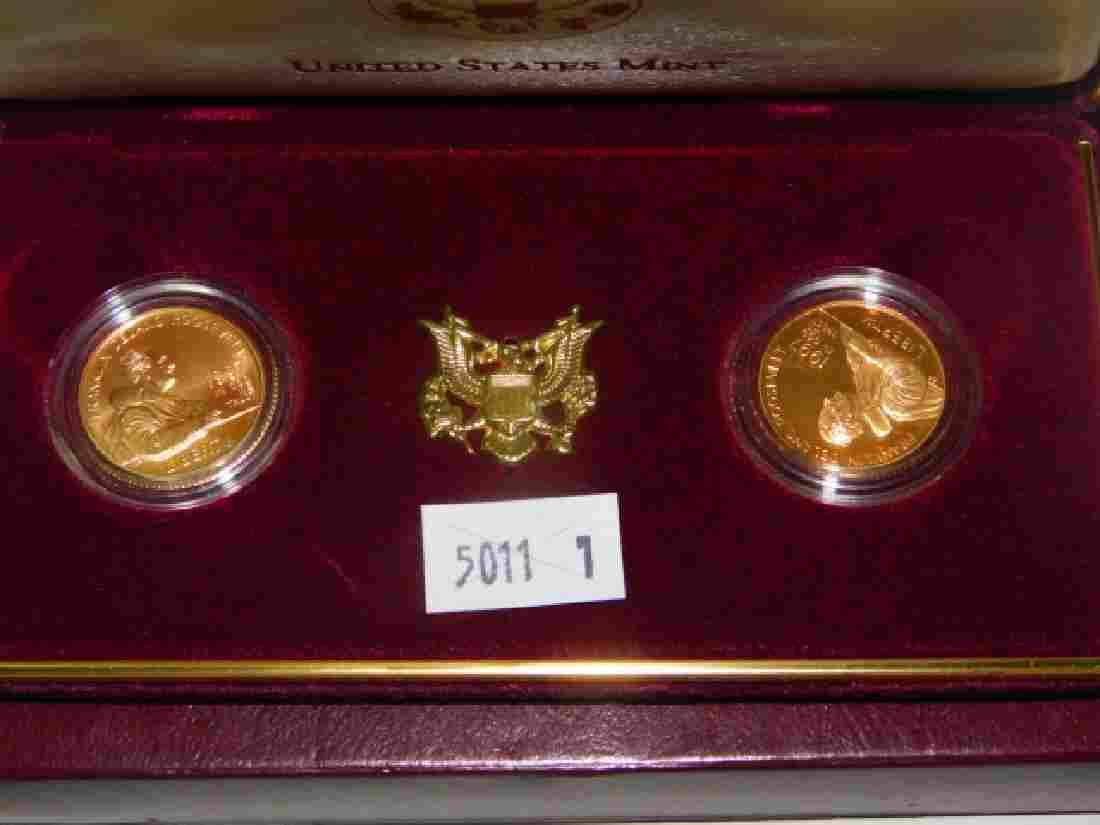 GOLD FIVE DOLLAR ROOSEVELT UNCIRCULATED MINT SET