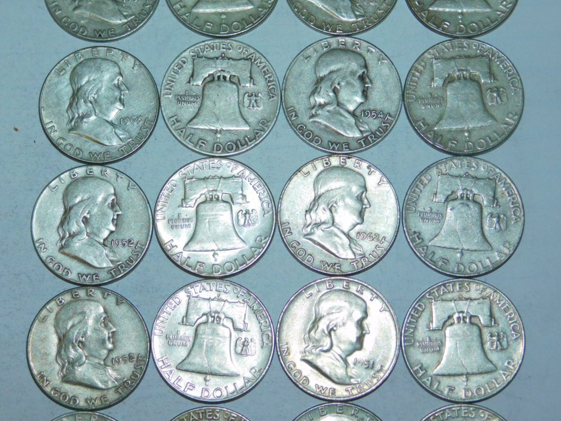 20 FRANKLIN HALF DOLLARS - 2