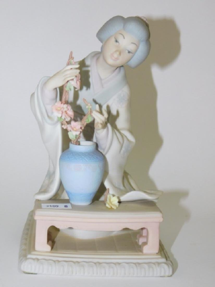 LLADRO, JAPANESE WOMAN WITH FLOWERS