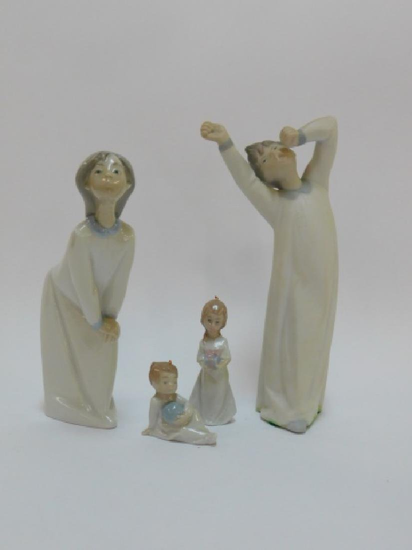 TWO LLADRO FIGURES AND ORNAMENTS