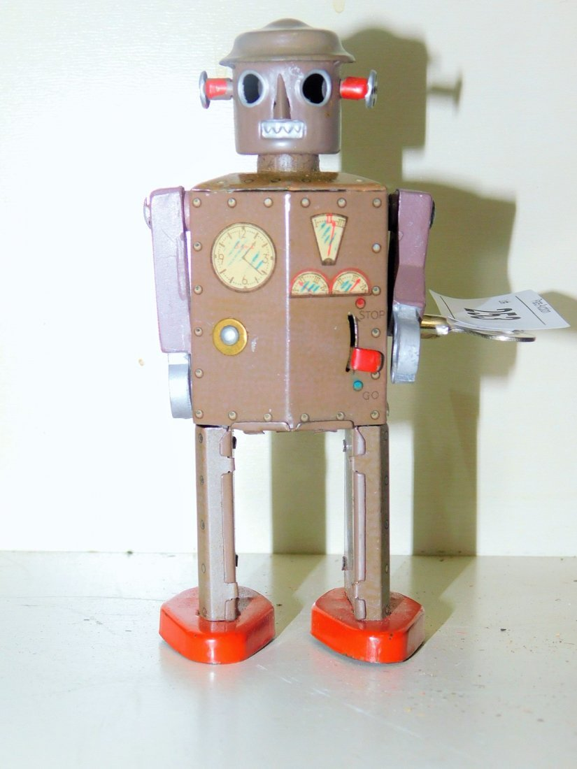TIN LITHO WIND UP  ATOMIC ROBOT MAN