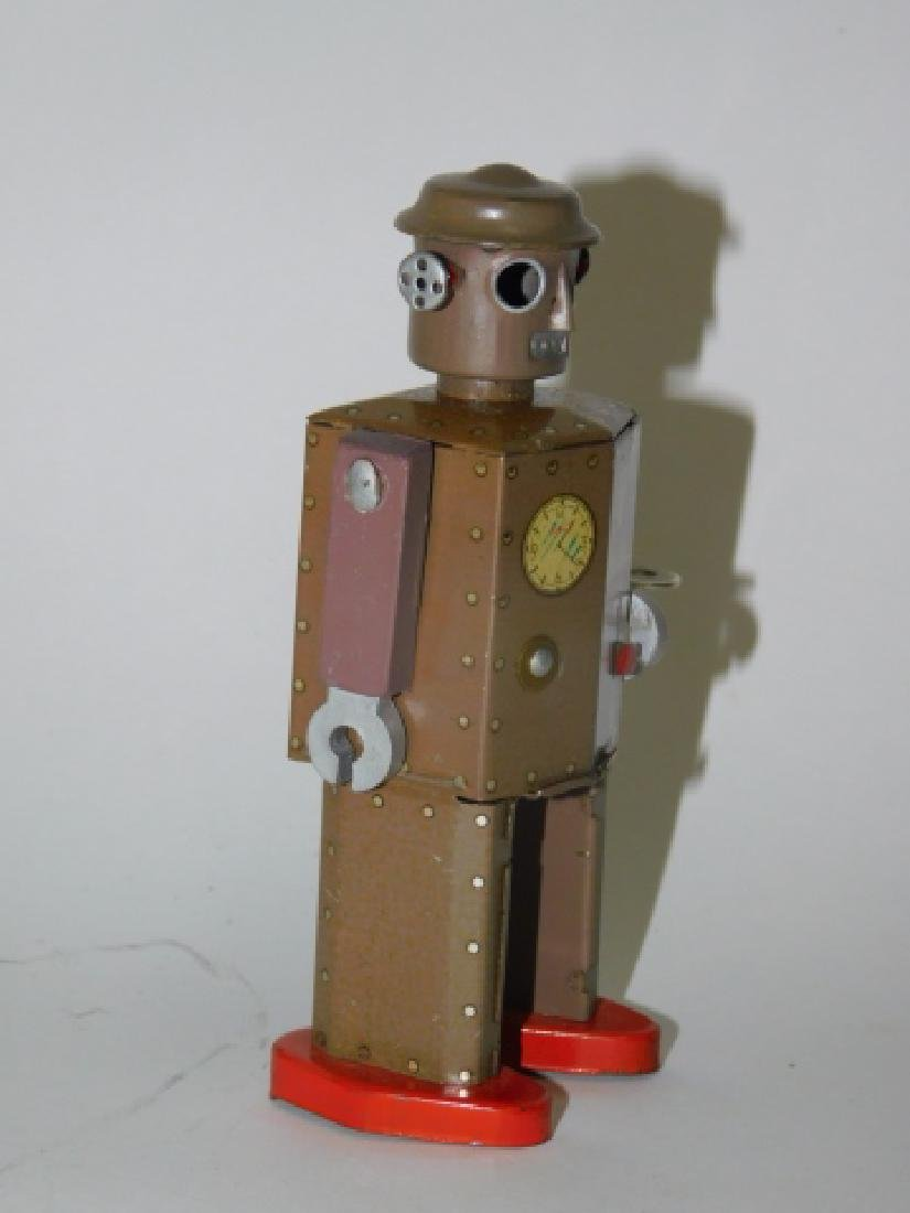 TIN LITHO WIND UP  ATOMIC ROBOT MAN - 2