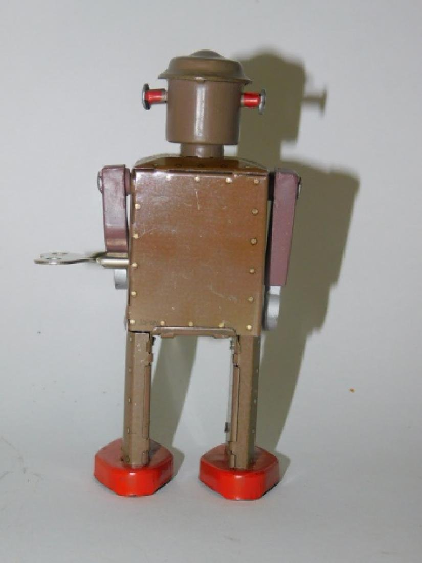 TIN LITHO WIND UP  ATOMIC ROBOT MAN - 3