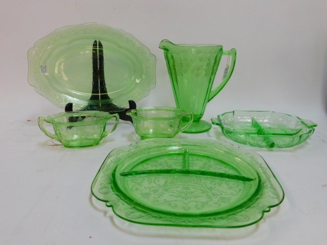 GREEN DEPRESSION GLASS