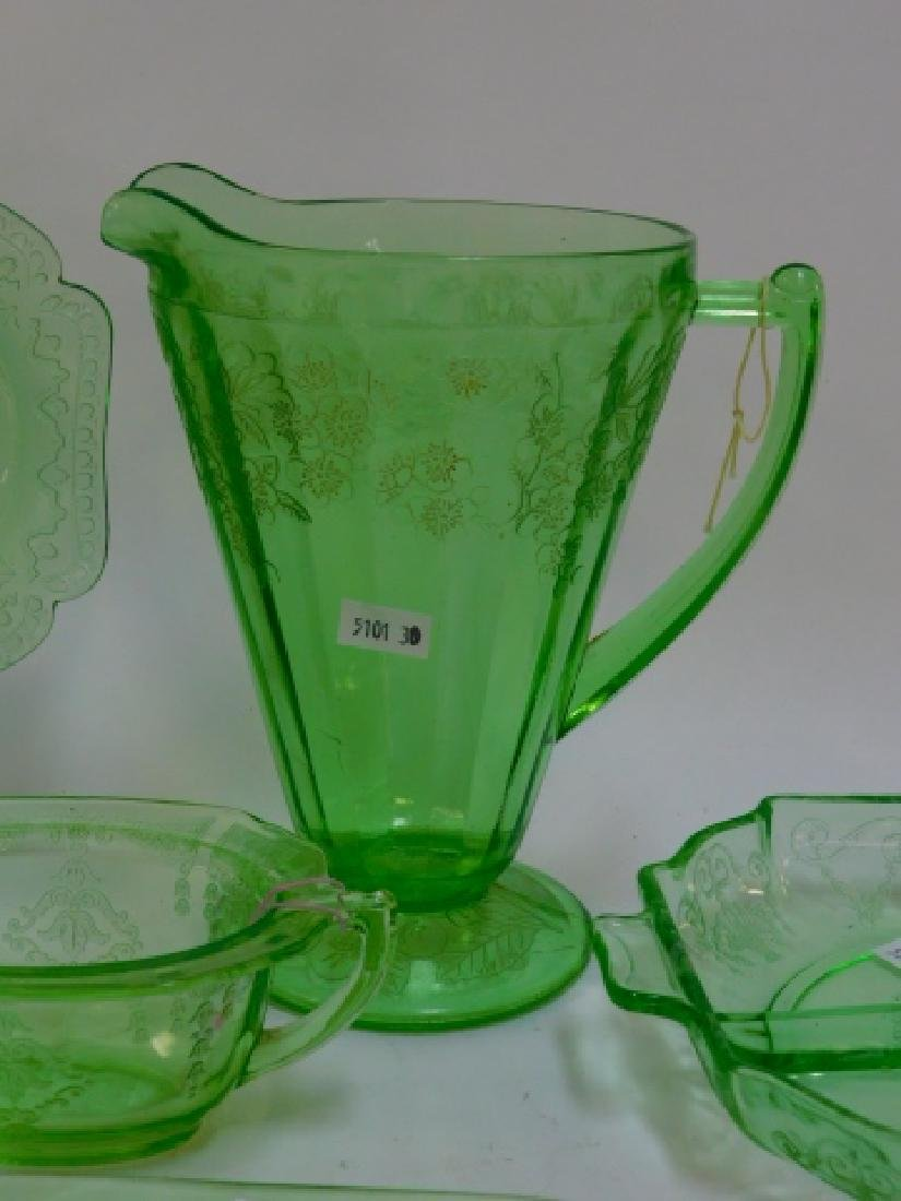 GREEN DEPRESSION GLASS - 2