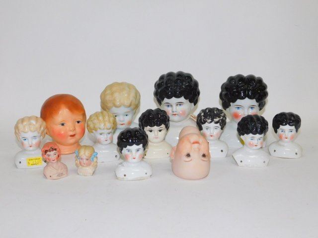 COLLECTION OF PORCELAIN DOLL HEADS