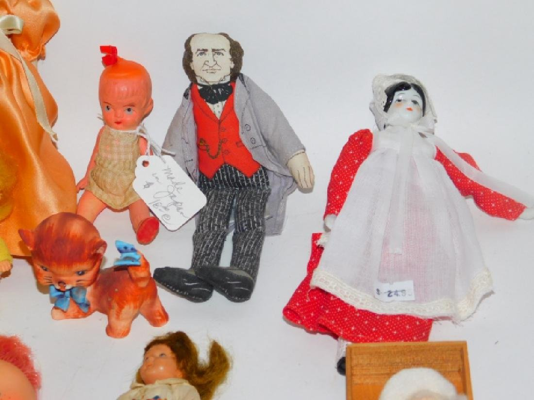 COLLECTION OF PORCELAIN, CLOTH, AND PLASTIC DOLLS - 2