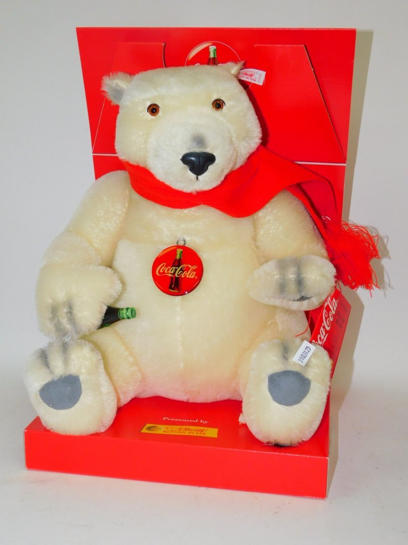 COCA-COLA MECHANICAL STEIFF TEDDY BEAR