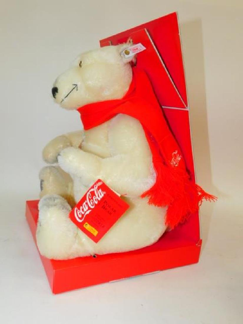 COCA-COLA MECHANICAL STEIFF TEDDY BEAR - 3