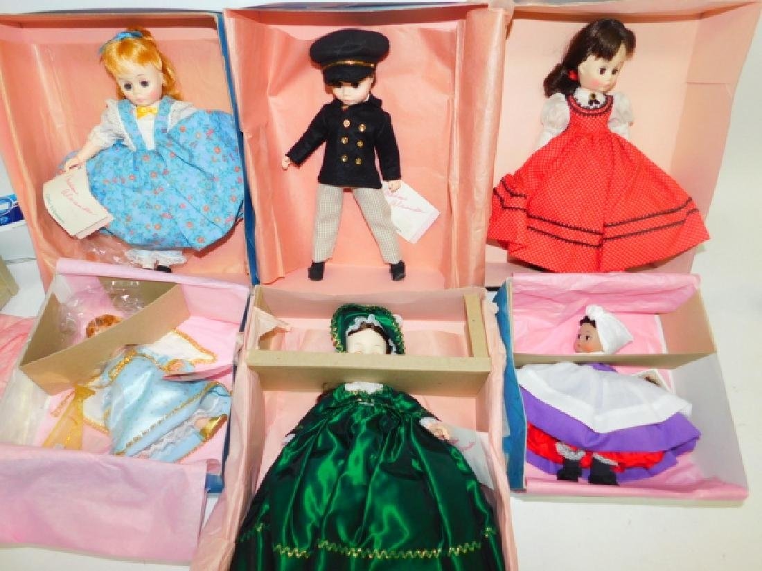 SIX MADAME ALEXANDER DOLLS