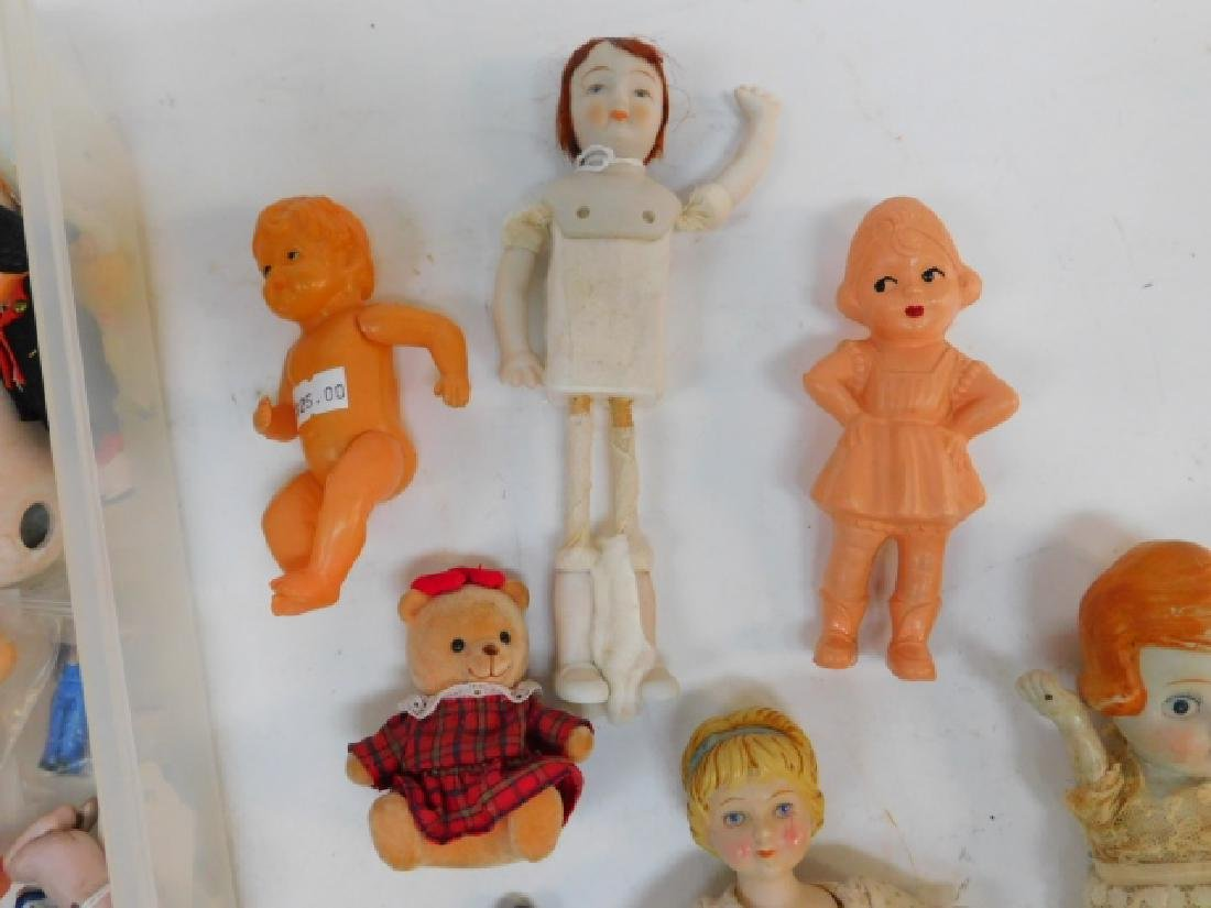 COLLECTION OF PORCELAIN AND PLASTIC DOLLS - 2