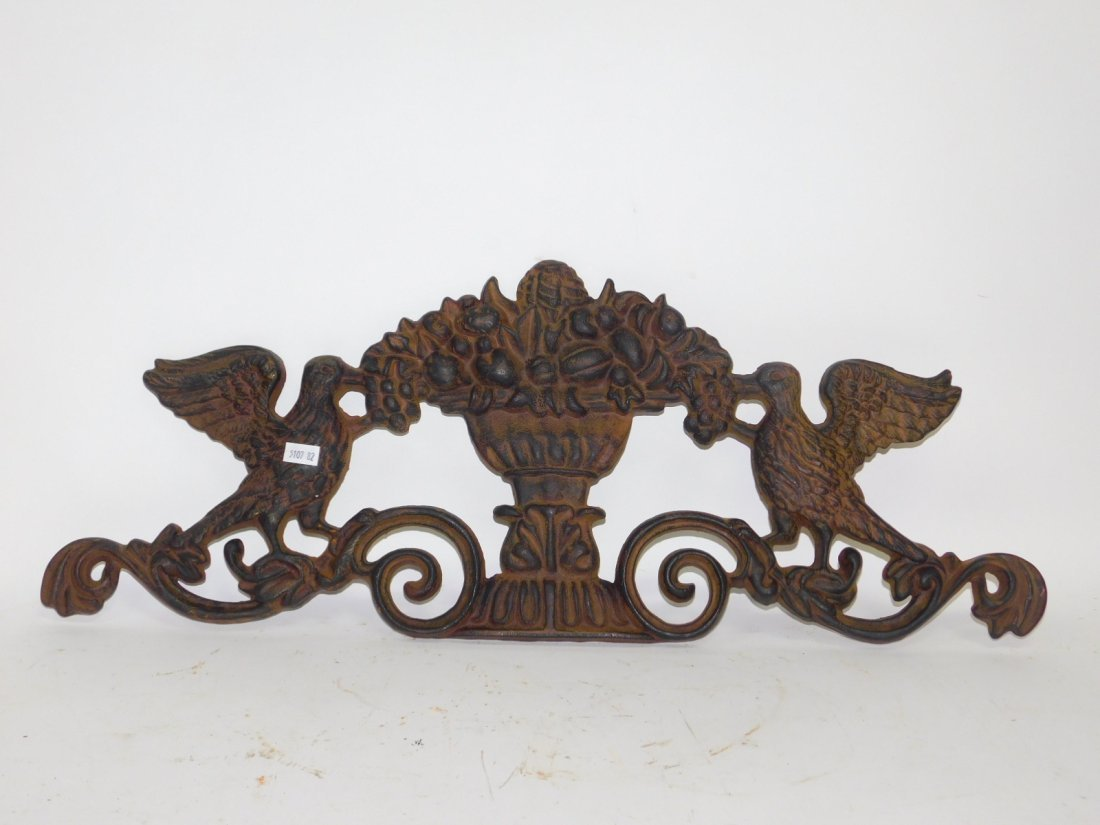 CAST IRON WALL PLAQUE