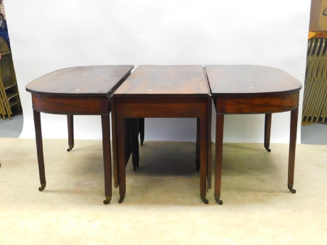 THREE PIECE MAHOGANY TABLE SET