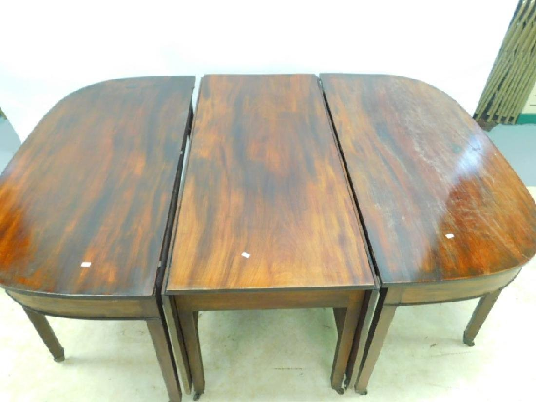 THREE PIECE MAHOGANY TABLE SET - 2