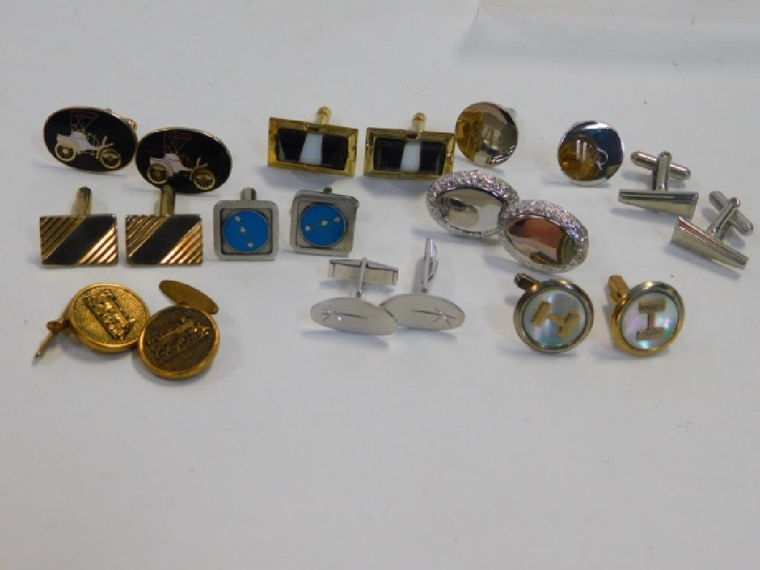 TEN PAIRS OF COSTUME CUFFLINKS