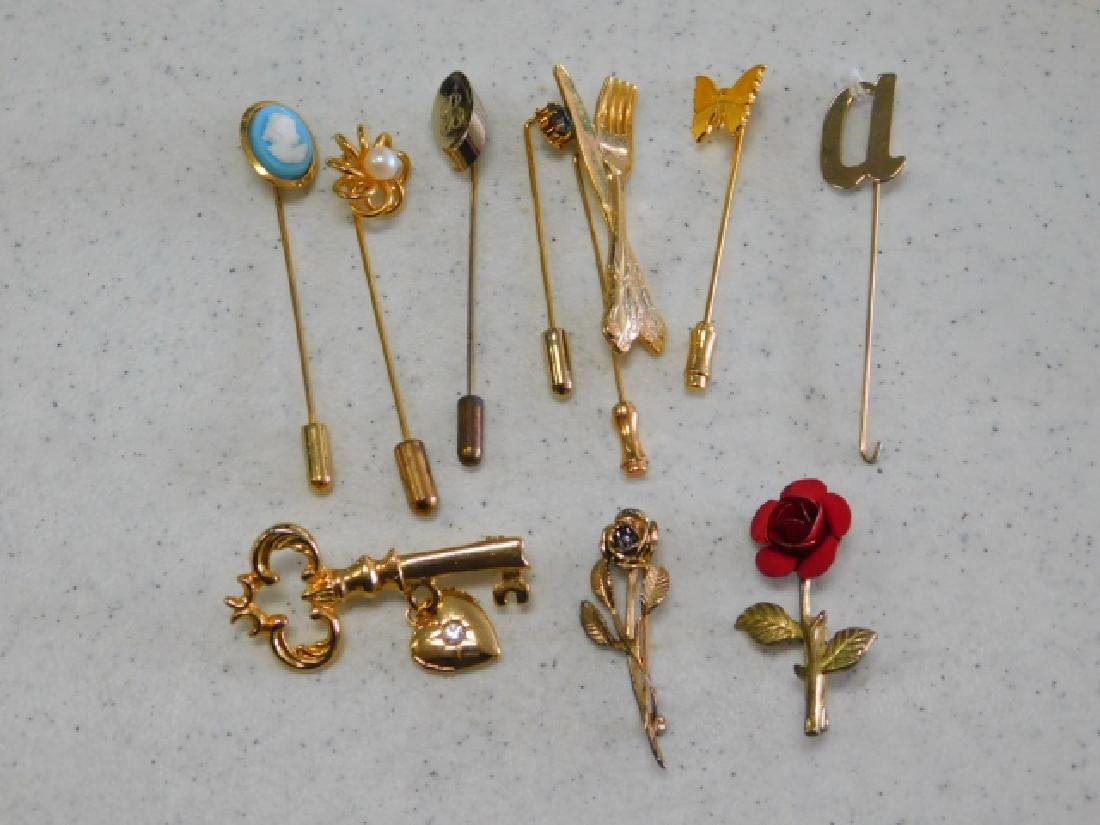COSTUME PIN AND HAT PIN COLLECTION