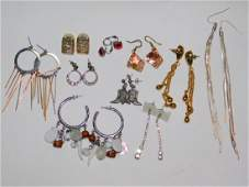 TEN PAIRS OF COSTUME EARRINGS