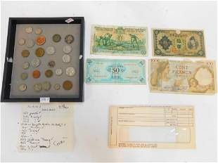AMERICAN FOREIGN COINS AND CURRENCY