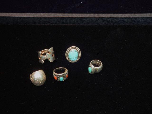 5 Sterling Rings
