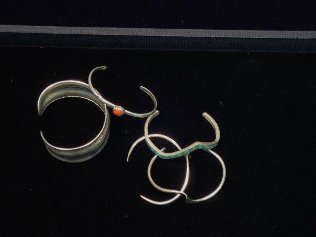 5 Sterling Cuff Bracelets