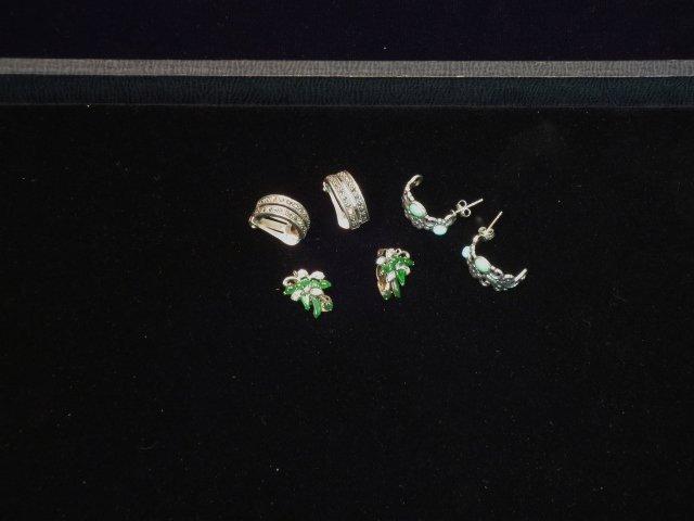 3 Pairs Sterling Earrings