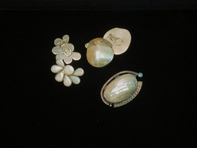 3 pc. Sterling and Shell Jewelry