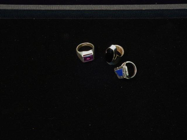 3 Sterling Rings