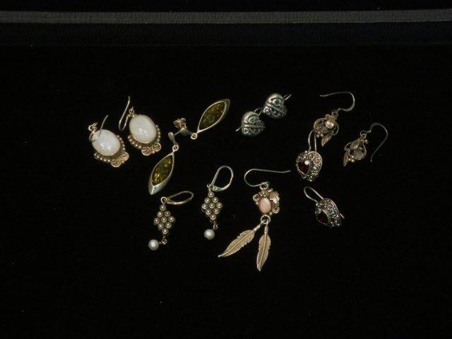 6 Pairs Sterling Earrings