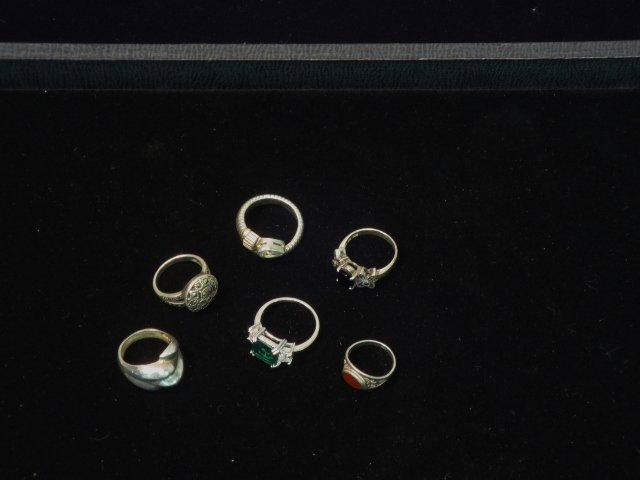 6 Sterling Rings