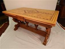 Figural Dining Table with 6 Chairs
