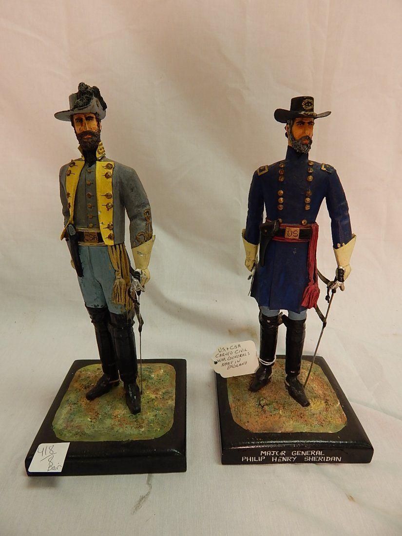 Carved civil war figures