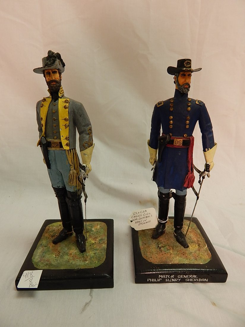Carved civil war figures