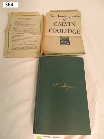 PRESIDENT COOLIDGE SIGNED AUTOBIOGRAPHY BOOK