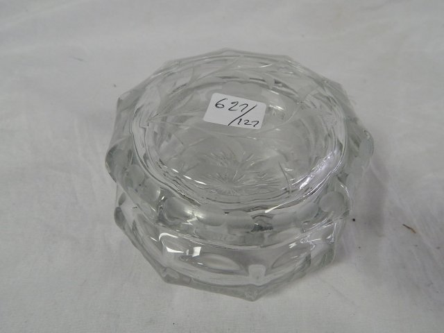 CUT GLASS COVERED CANDY DISH