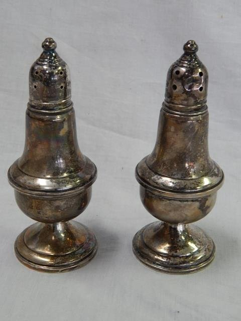 WEIGHTED STERLING SALT AND PEPPER SET