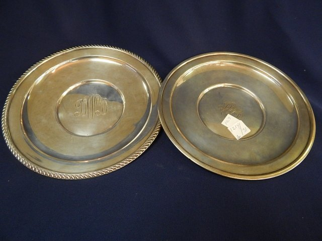 2 STERLING PLATES