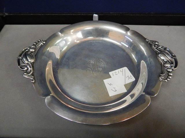 STERLING TRAY MONOGRAMMED