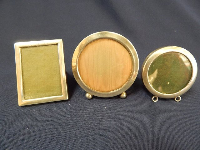 3 STERLING PICTURE FRAMES