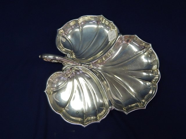 CARTIER STERLING SILVER RELISH TRAY