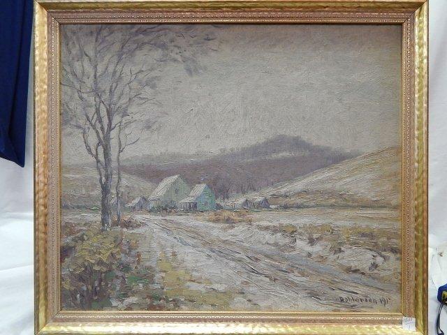 CHARLES W. DAHLGREEN  OIL ON CANVAS  c.1917