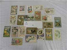 EASTER POSTCARDS LOT - USED