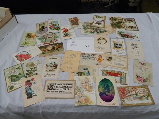 HOLIDAY MIS POSTCARDS LOT - USED