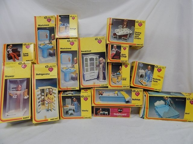 SINDY DOLL HOUSE FURNITURE 15 PIECES
