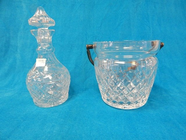 WATERFORD ICE BUCKET AND DECANTER
