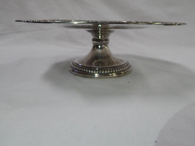 TIFFANY STERLING FOOTED TAZZA