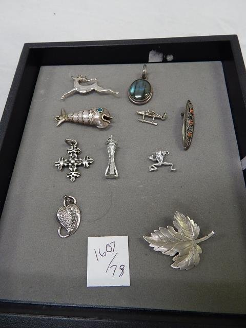 STERLING SILVER PENDANTS AND CHARMS