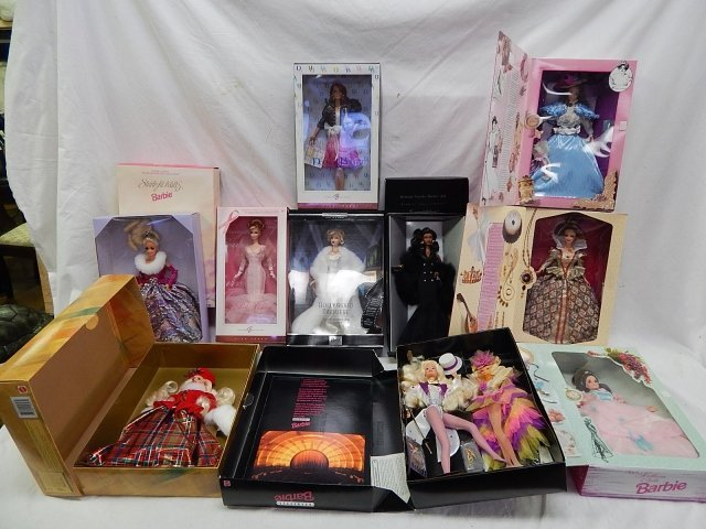 10 LIMITED EDITION BARBIES AND COLLECTORS DOLLS
